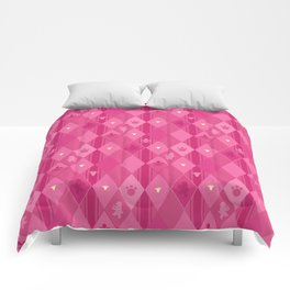 Pink Lily Bears Comforters