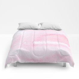 Pink watercolor // texture Comforters