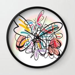 Schmetterlinge - butterflies Wall Clock