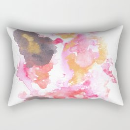 Watercolor Pink Black Gold Flow | [dec-connect] 30. touch Rectangular Pillow