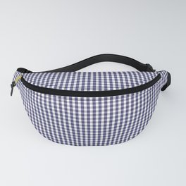 USA Flag Blue and White Gingham Checked Fanny Pack