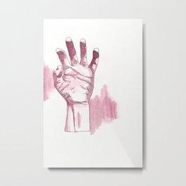 Hand Study IV Metal Print