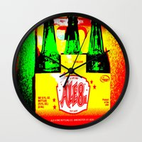 ale giorgini Wall Clocks featuring Ale-8-One (6 Pack) by Silvio Ledbetter