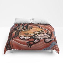 Aboriginal Art - Lizard Comforters