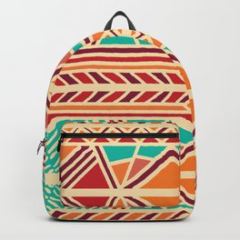Tribal ethnic geometric pattern 027 Backpack