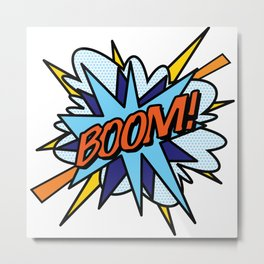 Comic Book Pop Art BOOM Metal Print