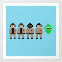ghostbusters Art Prints featuring Ghostbusters by Pixel Icons