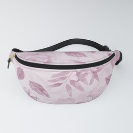 Modern blush pink burgundy white watercolor floral Fanny Pack