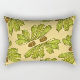 Botanical Leaves Rectangular Pillow