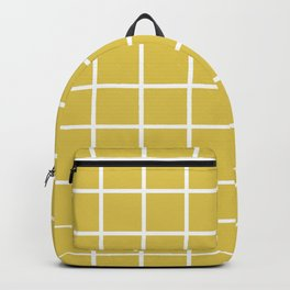 GRID DESIGN (WHITE-GOLD) Backpack