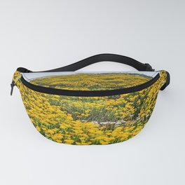 Yellow Coastal Flowers, Monterey, California Fanny Pack