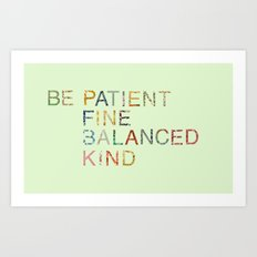 Skinny Love Quote Art Print
