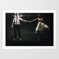 Art Prints featuring abyss of the disheartened : IX by Heather Landis