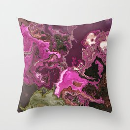 rose garden marble Throw Pillow