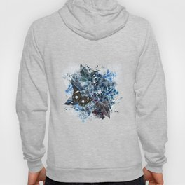 Beautiful bright pattern with hydrangea flowers and butterflies Hoody
