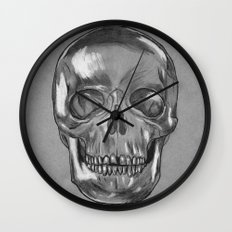 grungy skull Wall Clock