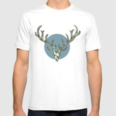 Antlers Mens Fitted Tee MEDIUM White