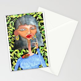 The Vietnamese Women in Ao Dai Stationery Cards