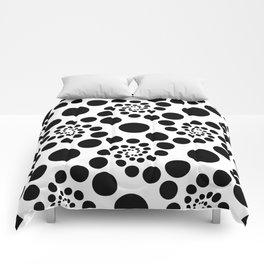 Optical Illusion Dot Spirals Comforters