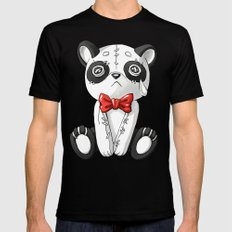 Panda Doll Mens Fitted Tee SMALL Black