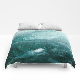 Sea Waves In Italy Comforters