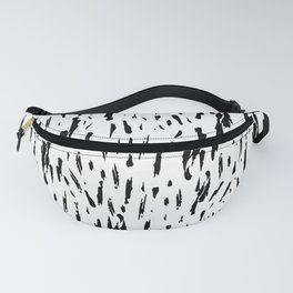 Seattle Rain Black Ink on White Fanny Pack