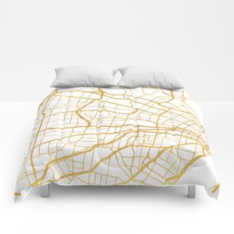 ST. LOUIS MISSOURI CITY STREET MAP ART Comforters