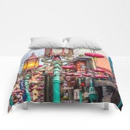 Chinatown Lanterns Comforters
