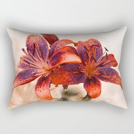Tangerine Tiger Lilly Rectangular Pillow