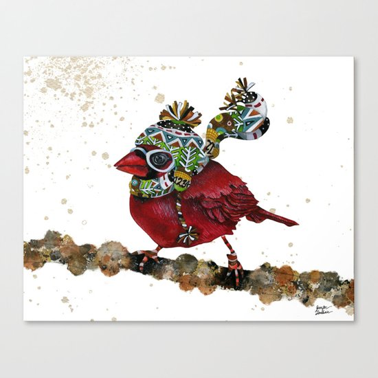 Cardinal Blaze 3 Canvas Print