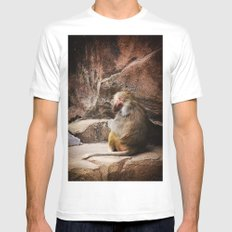 Monkey Business Mens Fitted Tee MEDIUM White