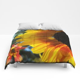 Golden Sunflower and Friend Comforters