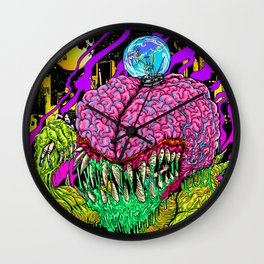 Rob Israel's Bulb Brain Destruction Wall Clock