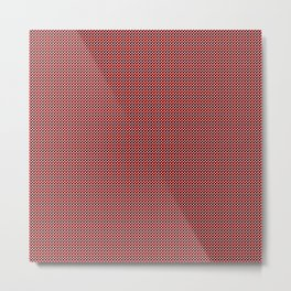 black and red block pattern Metal Print