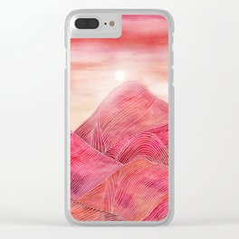 Lines in the mountains XXIII Clear iPhone Case