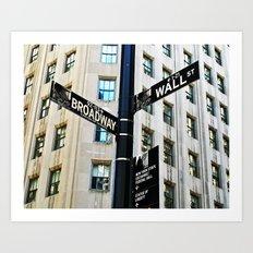 Broadway Meets Wall Street Art Print