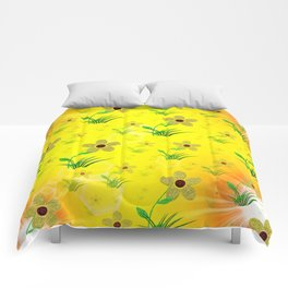 flower,abstract pattern in metal Comforters