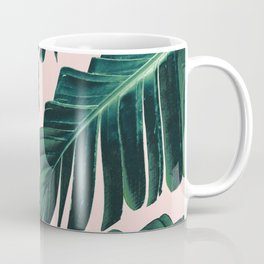 Tropical Blush Banana Leaves Dream #1 #decor #art #society6 Coffee Mug