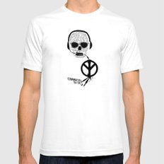 Love' skull -  a collaboration between Sam Guilhen and Gwenola de Muralt - SMALL White Mens Fitted Tee