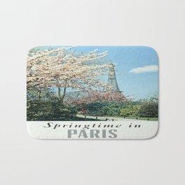 Vintage poster - Springtime in Paris Bath Mat