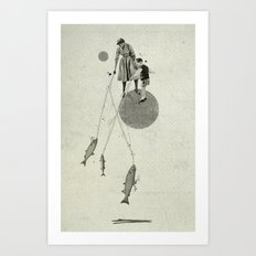 April | Collage Art Print