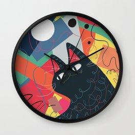 Trumpet Cat Wall Clock