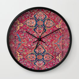Bakhtiari West Persian Rug Print Wall Clock