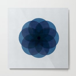 Flower with circles Metal Print