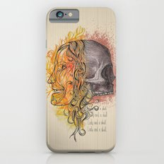 Lady and a skull Slim Case iPhone 6s