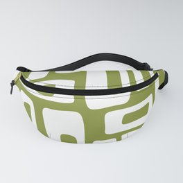 Retro Mid Century Modern Abstract Pattern 335 Olive Green Fanny Pack