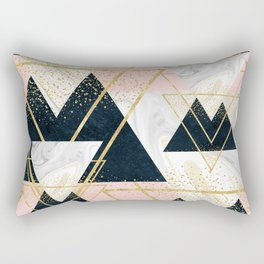 Elegant geometric and confetti golden design Rectangular Pillow