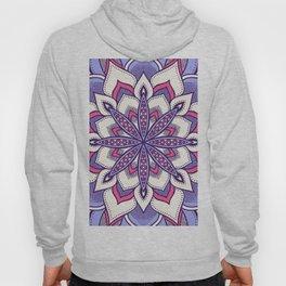 Flower Mandala Pattern Pink Lavender Hoody