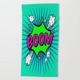 Boom Blue Boom Beach Towel