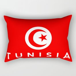 Tunisia country flag name text Rectangular Pillow